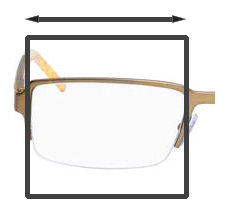 Spectacle Frames lens Box Size Dimension